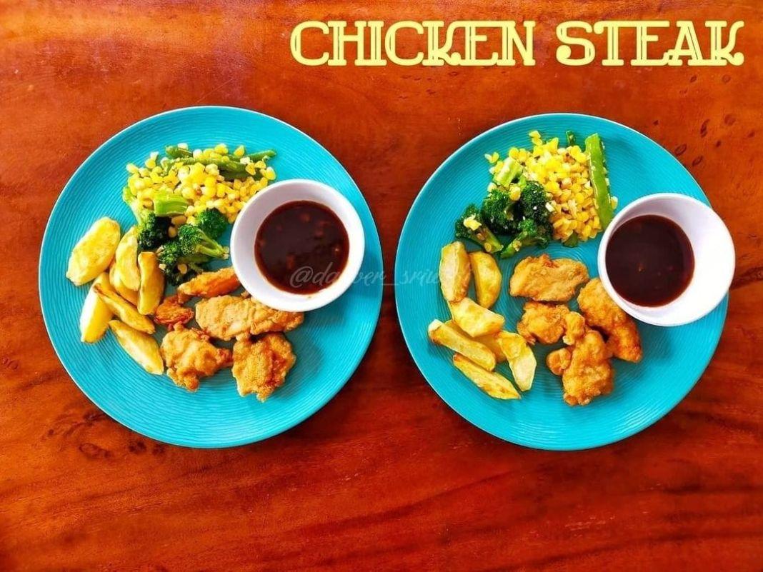 Info kuliner, selamat siang semua, met lunch ya… hari ini bikin chicken steak untuk makan siang, kangen ngaf…