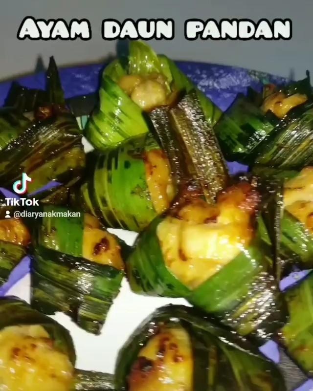 Info kuliner, yuk coba dibuat ayam daun pandan inii  cr: @diaryanakmakan…