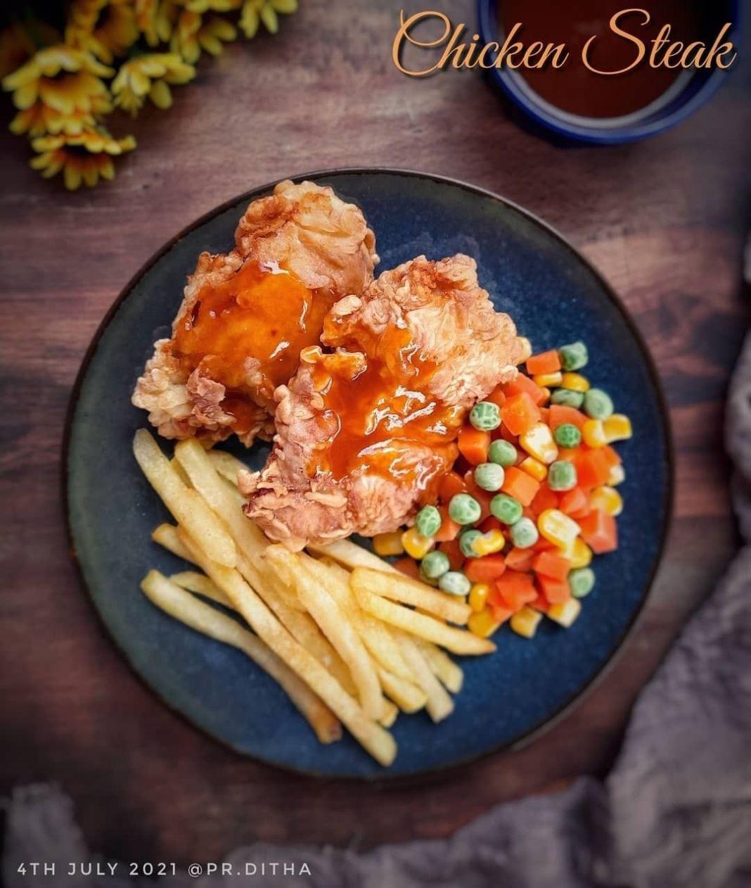 Info kuliner, Chicken Steak @pr.ditha  Bahan: 300gr dada ayam 2 siung bawang putih, haluskan 1/2 sdt lada put…
