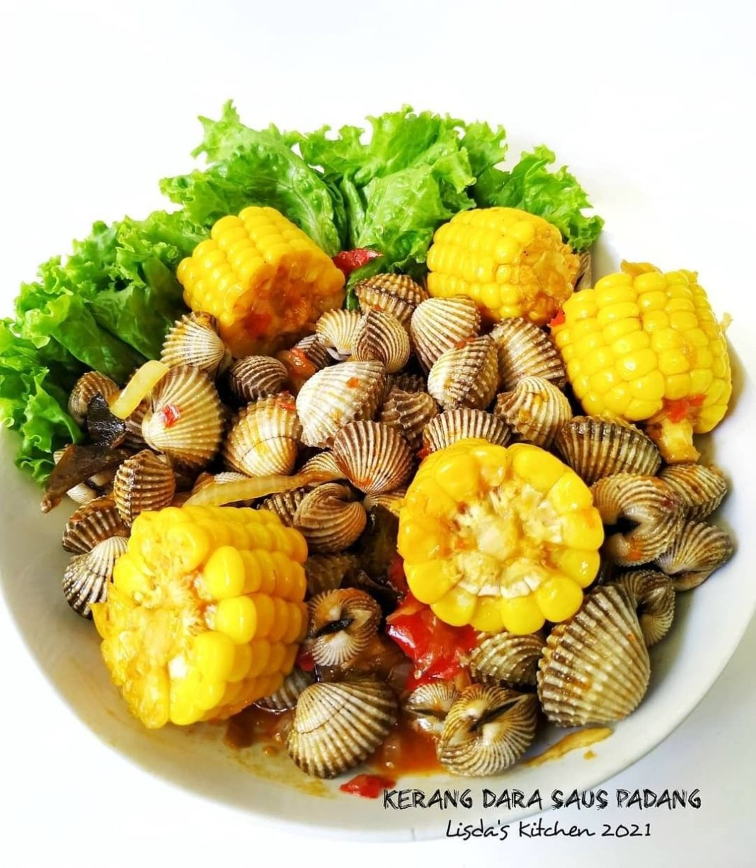 Info kuliner, KERANG DARA SAUS PADANG  Bahan utama : Kerang dara / seafood yg lain Jagung manis, potong2, reb…