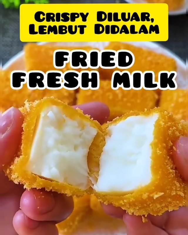 Info kuliner, Pernah nggak nih kalian kalo Fresh Milk di Goreng? Penasaran kan?   Cocok banget loh dijadiin c…