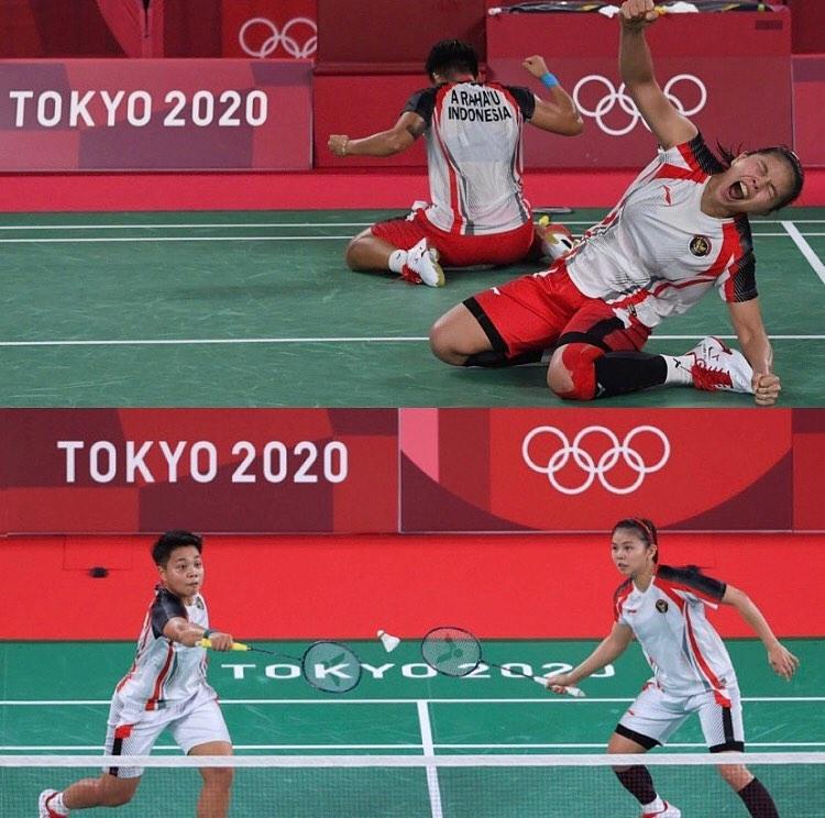 SELAMAT!!! untuk pasangan ganda putri Indonesia @greyspolii & @r.apriyanig meraih medali emas da…