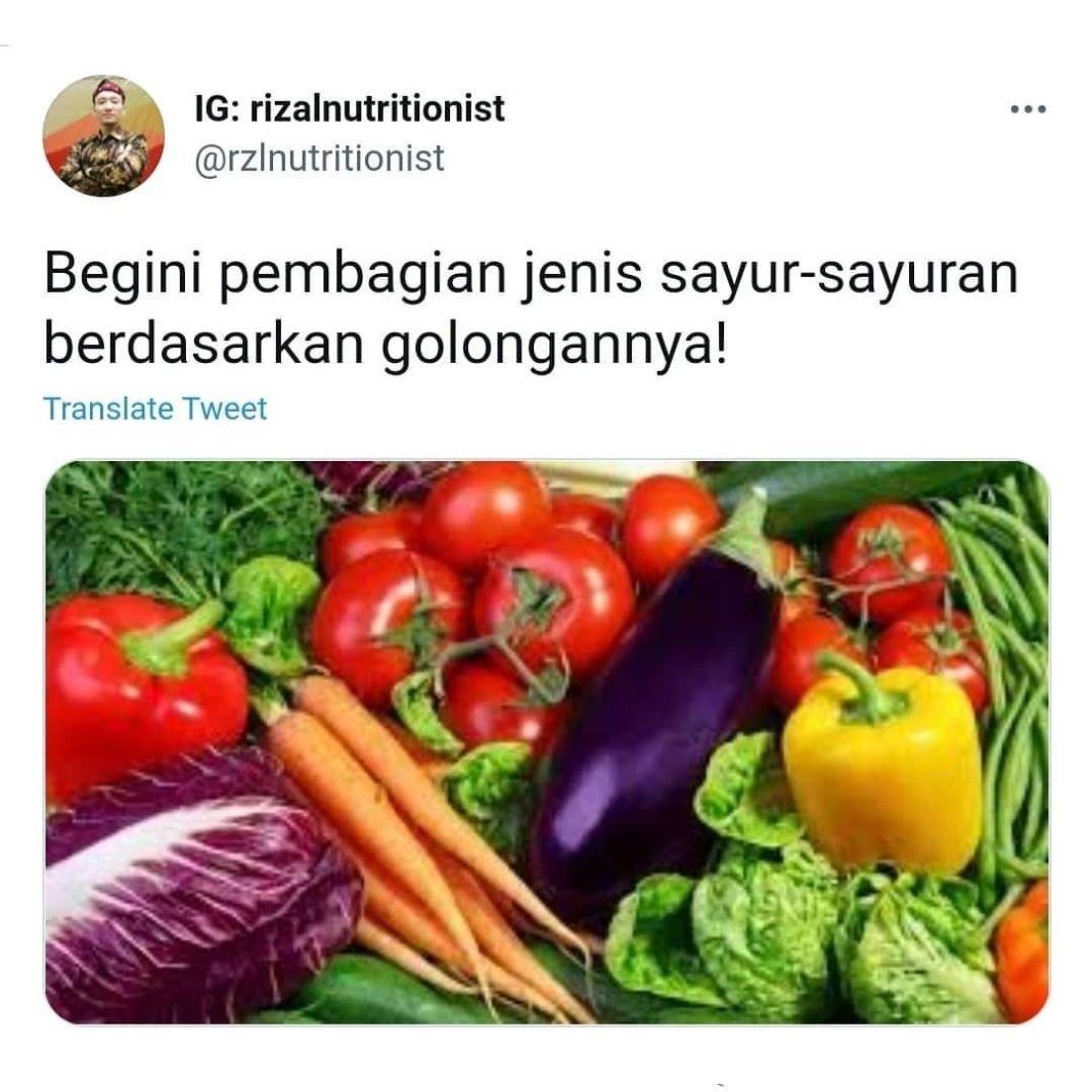 Info sehat, Nih untuk kemarin yang nanyain golongan² sayur. Penggolongan ini cuma berdasarkan kandungan kalo…
