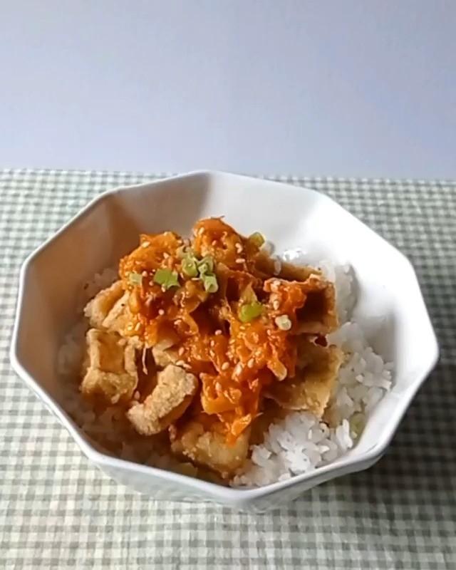 Info kuliner, share this recipe, Mango Sticky Tofu  ayeee   Ingredient: Tofu – 4 tofu blocks  – 2 tbsp soy sa…