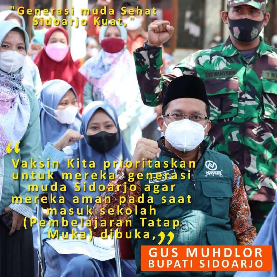 Sebanyak 5.000 pelajar SMA/SMK sekolah serta santri Pondok Pesantren (Ponpes) di Kabupaten Sidoar…