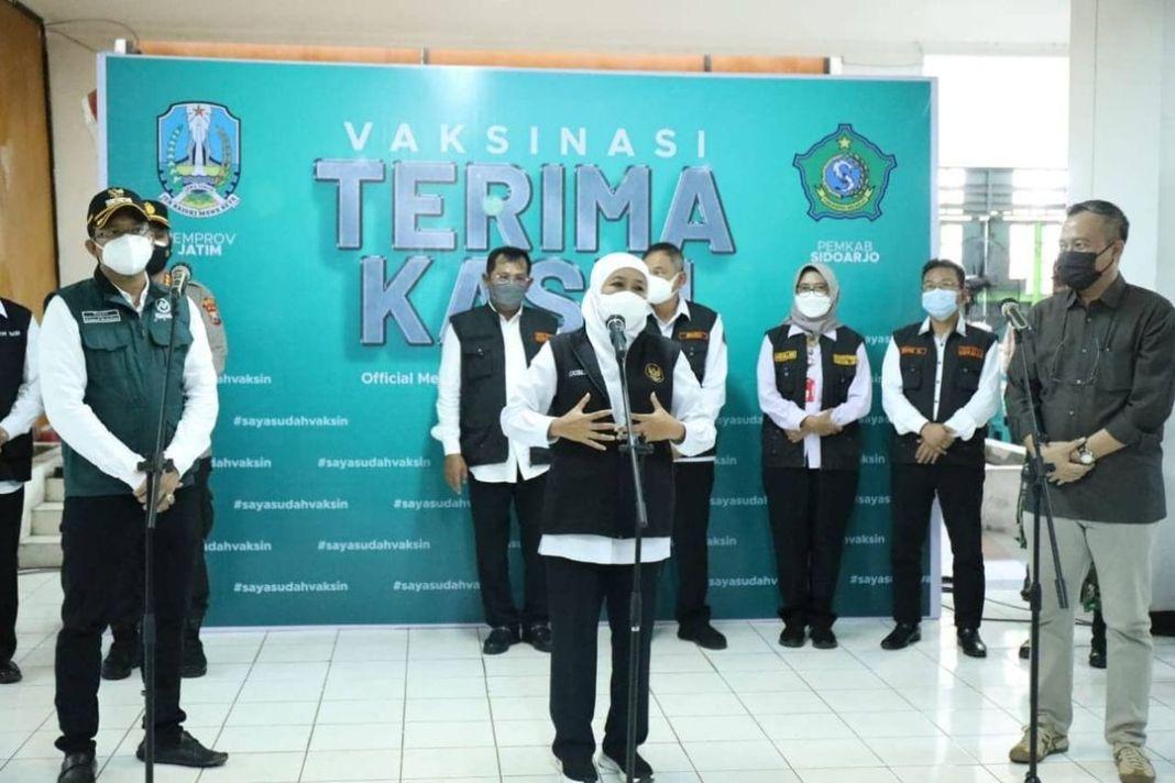 Sidoarjo Sudah Zona Kuning, 62 Persen Warganya Sudah Divaksin  Kominfo, Sidoarjo – Gubernur…