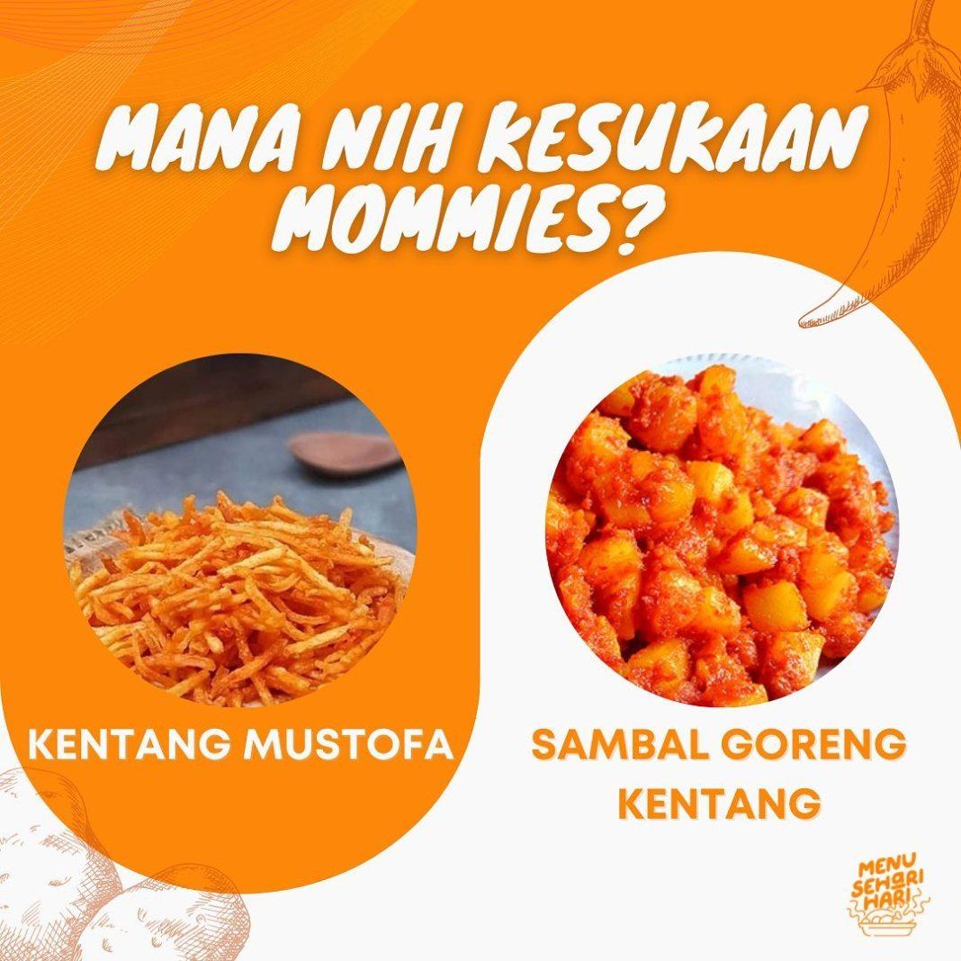 Info kuliner, Mommies tim olahan kentang yang mana niehh?? Dua duanya paling nikmat dimakan pake nasi anget  …