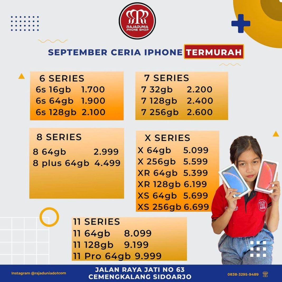 IPHONE TERMURAH DI SIDOARJO !! untuk bebscuu yang lagi cari Iphone atau yang pingin upgrade dar…