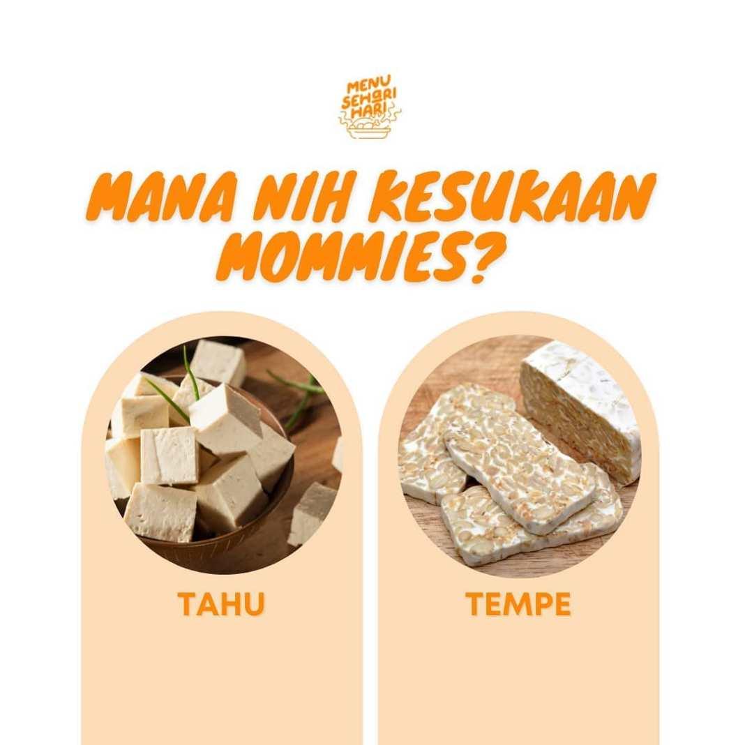 Info kuliner, Mommies tim tahu atau tempe nihh untuk menu protein nabati sehari-hariii?  #pilihanmoms #lapers…