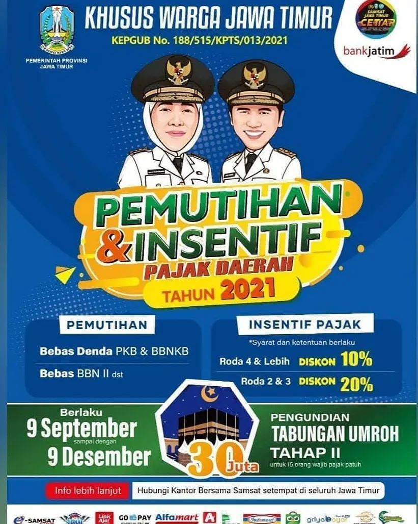 Ayo, manfaatkan program bebas Bea Balik Nama dari Gubernur Jawa Timur  Banyak keuntungan kalau …