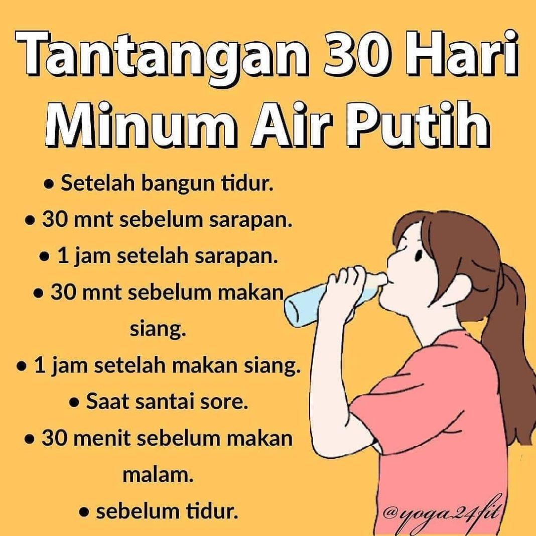Info sehat, Cocok banget nih untuk kamu yang sedang belajar untuk minum air putih banyak . serta air putih mem…