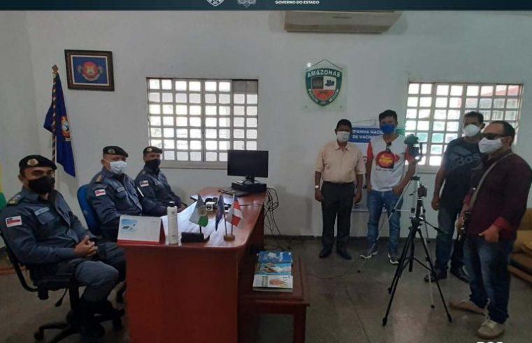 Comandante do 8° BPM participa de coletiva de imprensa sobre ações de segurança na região de fronteira