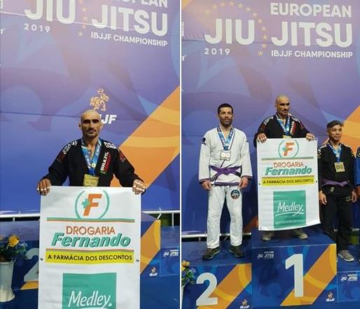 Jacarezinhense é bicampeão Europeu de Jiu Jitsu