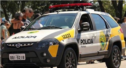 Motorista de caminhonete F-250 perde o controle e derruba 8 motos em Jacarezinho