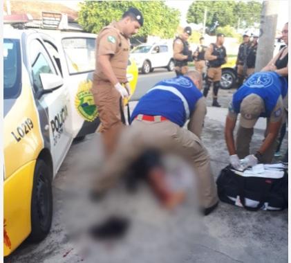 Paraná: Após briga com o pai, homem ameaça policiais com uma faca e é baleado