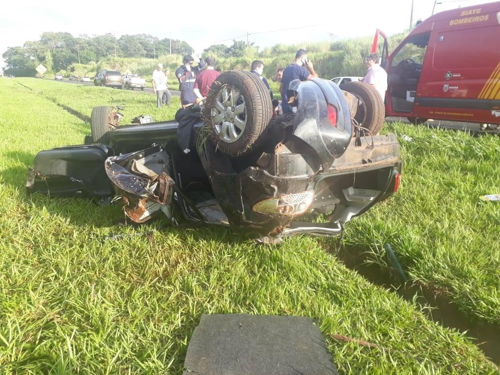 Motorista causa acidente e deixa três feridos na BR-369; condutor estaria embriagado