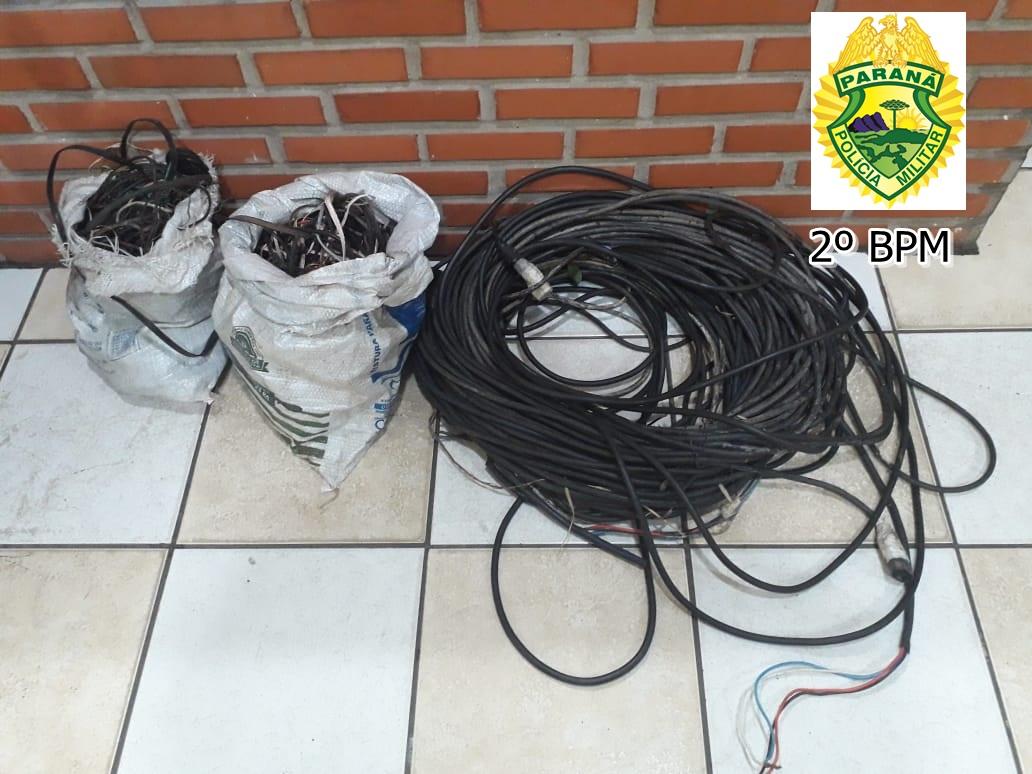 Jovem furta fios em Obra realizada no Ginásio de Esportes de Jacarezinho