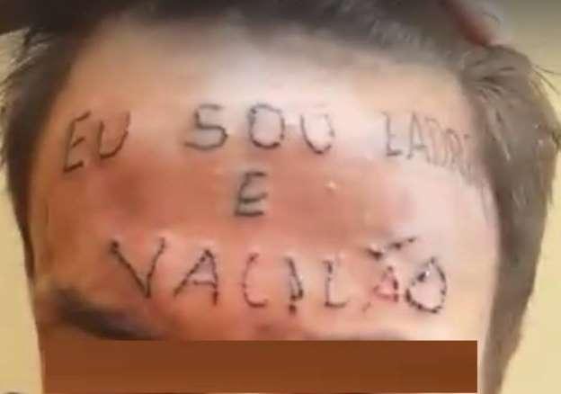 Jovem tatuado na testa é condenado a 4 anos de prisão por furto