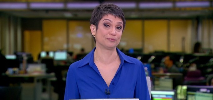 Sandra Annenberg se emociona ao se despedir do 'Jornal Hoje'