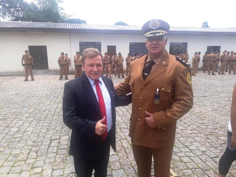 Batalhão de Polícia de Guarda homenageia novo comandante do 2º BPM