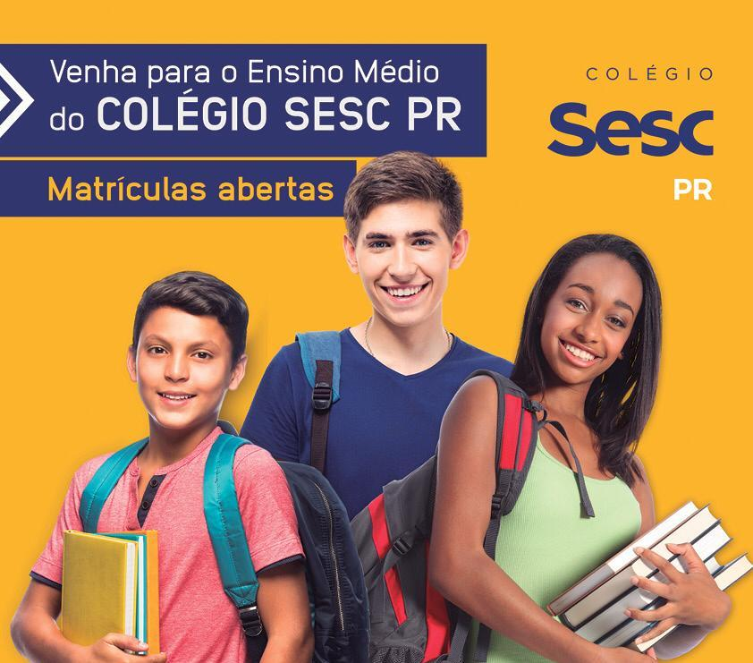 Jacarezinho: Venham para o Ensino Médio do  Colégio Sesc PR