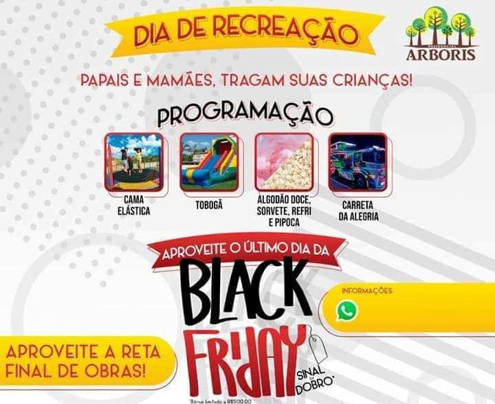 """Convite: Amanhã 30/11 é dia de recreação no Residencial Arboris em Jacarezinho """"Tragam suas crianças click aqui e confiram"""""""