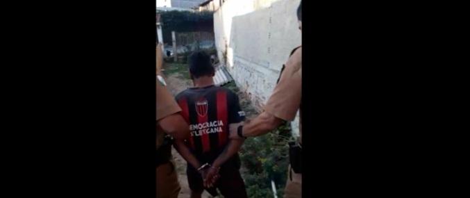 Paraná: Homem agride esposa com serrote, foge e é surpreendido pela polícia ao retornar para casa