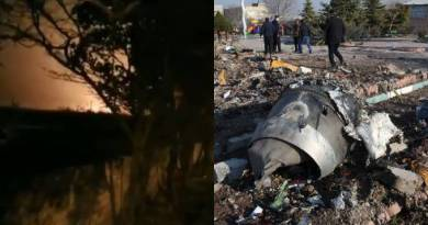 Vídeo mostra momento da queda do avião no Irã