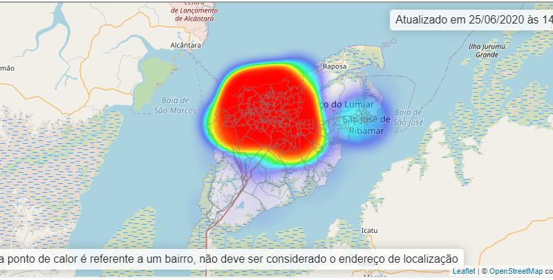 Confira a lista de bairros de São Luís e Região Metropolitana com casos confirmados de Covid-19