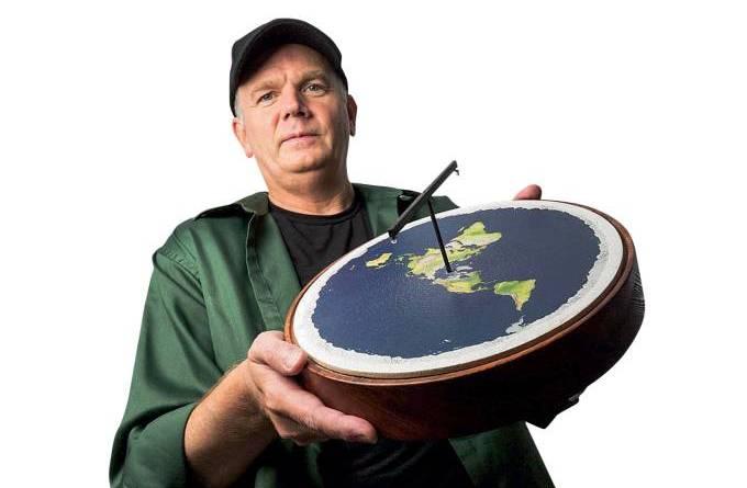 Exemplo bizarro de cabeça dura: o terraplanista Mark Sargent