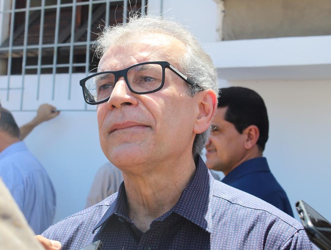 João Vicente Claudino, presidente estadual do PTB, em evento do partido em Teresina.