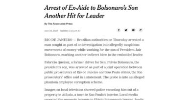 'Mais um baque para o líder': imprensa mundial repercute prisão de Queiroz