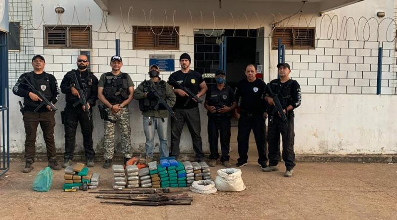 Polícia Civil apreende drogas e armas na reserva do Gurupi no Maranhão