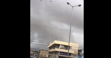 'Tesoura de vento' quebra vidraças, derruba placas e deixa mais estragos em tarde de chuva na capital maranhense