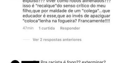 Colégio particular de São Luís expulsa aluno por comentários racistas após revolta em redes sociais