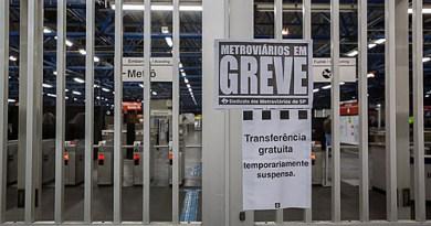 Metroviários de São Paulo entram em greve a partir desta terça