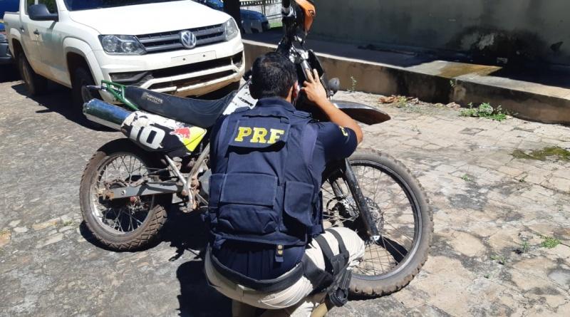 Moto recuperada pela PRF PI