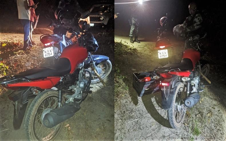 PM recupera duas motocicletas roubadas na estrada da Chapadinha Sul