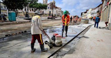 Obras de revitalização avançam no Centro Histórico