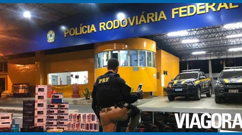 PRF PI apreende contrabando de eletrônicos avaliado em R$ 160 mil