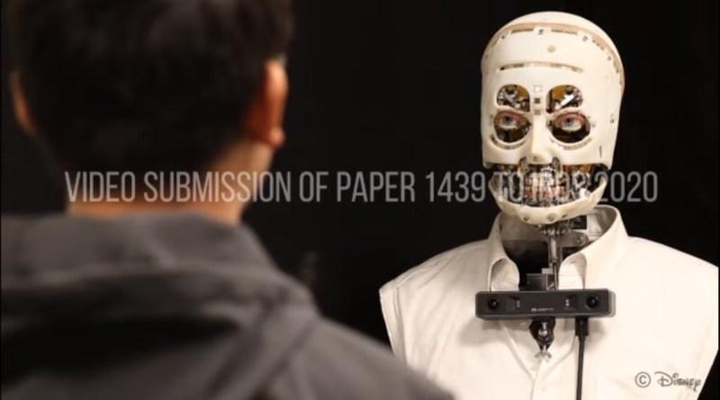 Disney está produzindo robô que pode