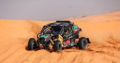 Brasileiros chegam em terceiro na etapa maratona do Rally Dakar