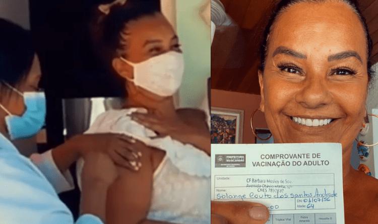 Solange Couto é uma das primeiras celebridades a tomar vacina da Covid 19 – Jovem Pan