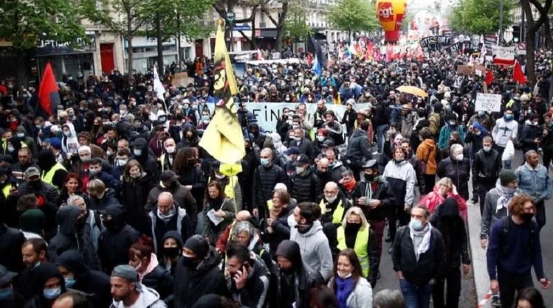 1º de Maio: franceses exigem de Macron  recursos para gerar empregos