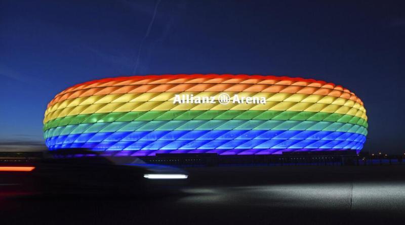 Cores do arco irís não iluminarão a Allianz Arena