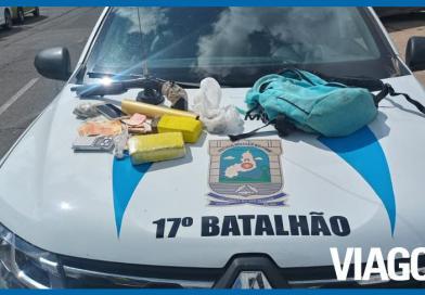 Homem é preso pela PM por tráfico de drogas no Torquato Neto