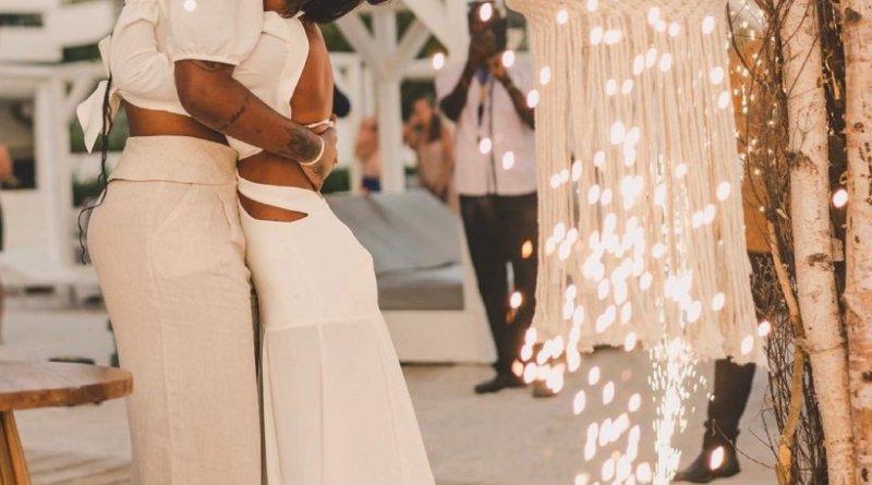 Ludmilla e Brunna Gonçalves se casam novamente no Caribe: 'Viva o amor' – Jovem Pan