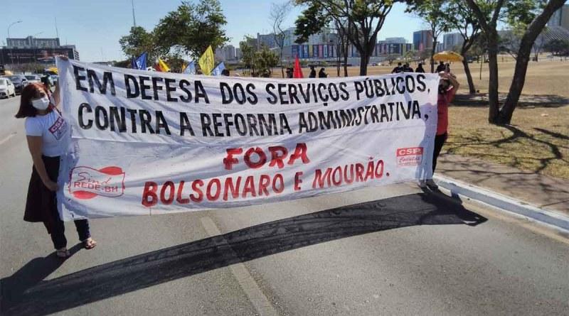 Servidores mobilizam se em Brasília contra a reforma administrativa