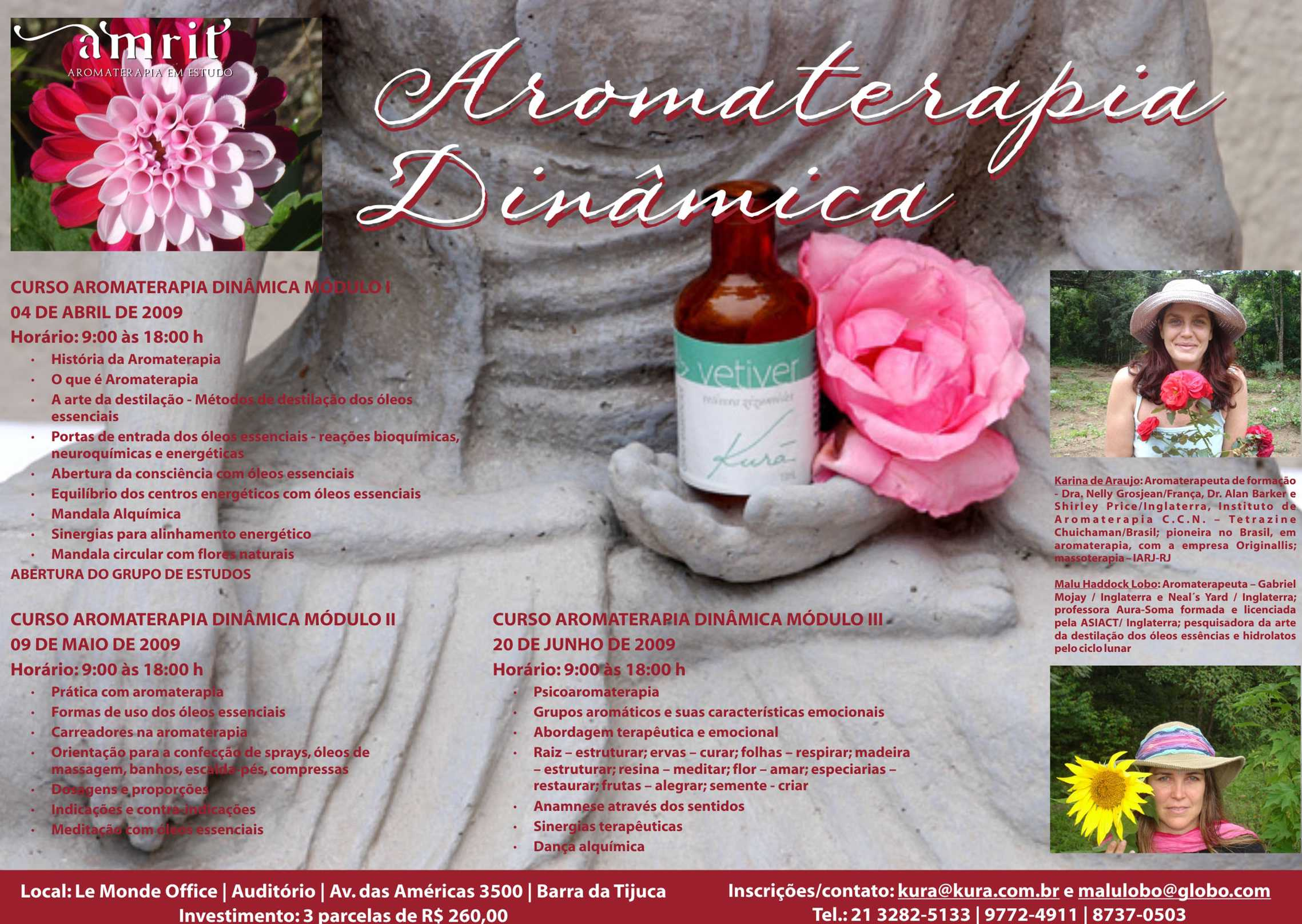 curso de aromaterapia com Malu Lobo e Karina Araújo