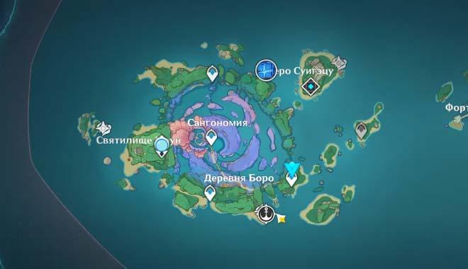 Как Решить Головоломку с Девятью Вращающимися Кубами на Острове Ватацуми Genshin Impact 2.1